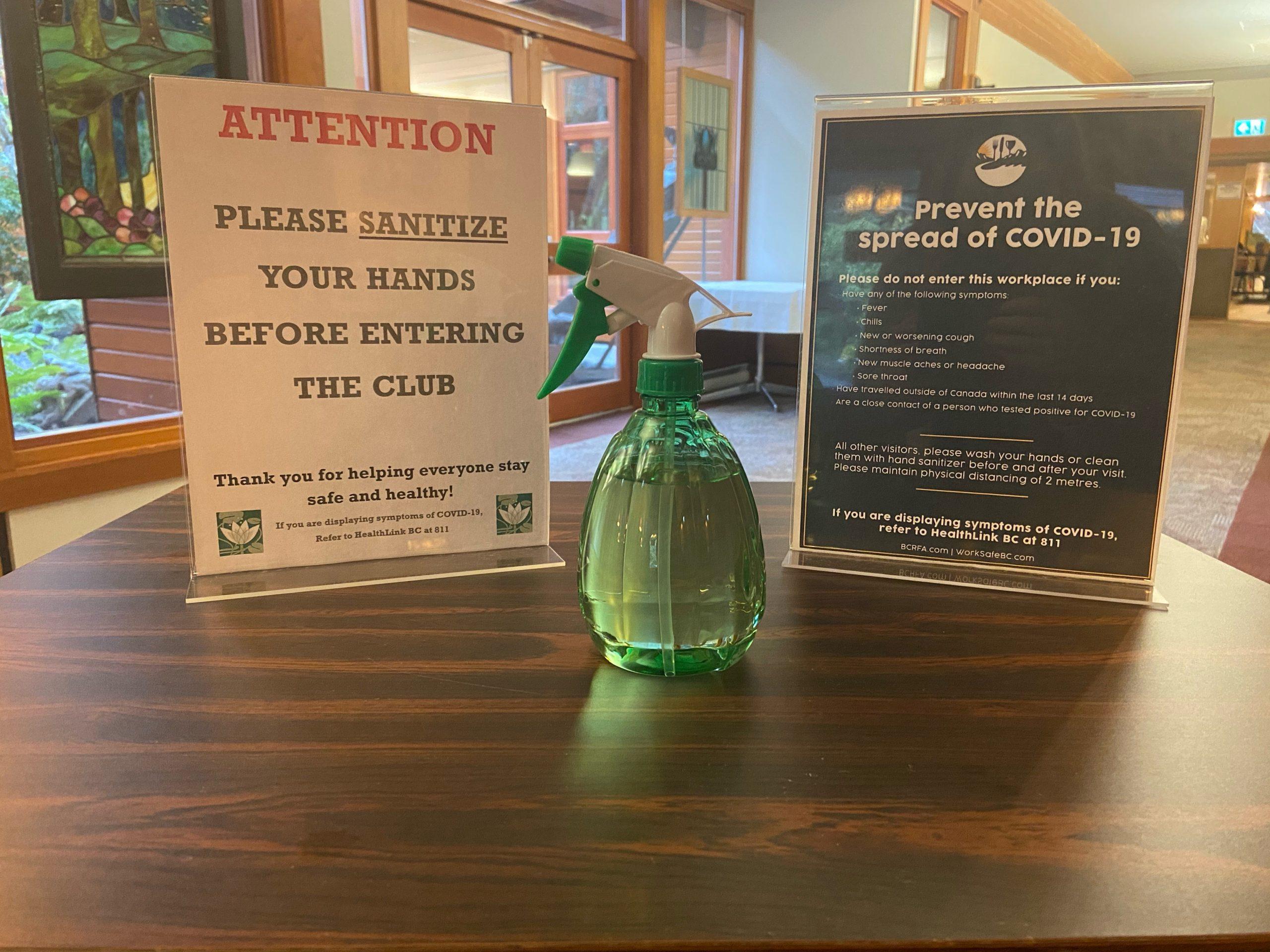 Sanitizer Sign